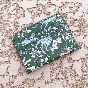J. CREW ✨NWT✨ Card Case Cardholder Tiger Floral